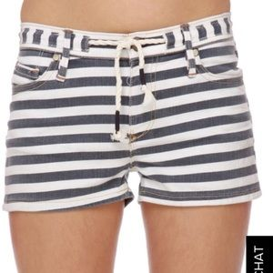 Roxy Shorts - Roxy Denim Sunset Drops striped shorts